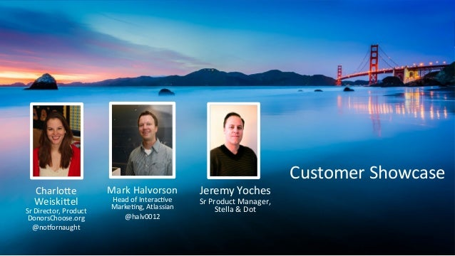 Mark  Halvorson   Head  of  Interac2ve   Marke2ng,  Atlassian   @halv0012      Charlo=e   Weiski=el  ...