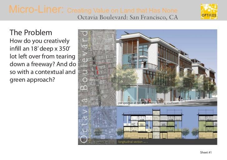 Innovative Urban Infill Housing