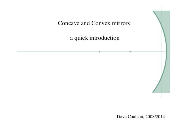 Concave and Convex mirrors: a quick introduction Dave Coulson, 2008/2014