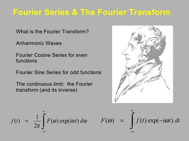 Fourier Series & The Fourier Transform  <ul><li>What is the Fourier Transform? </li></ul><ul><li> </li></ul><ul><li>Anha...