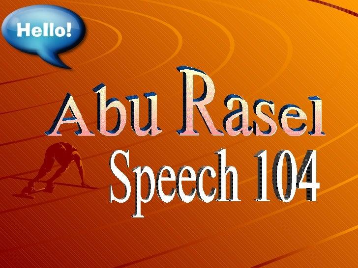Abu Rasel Speech 104