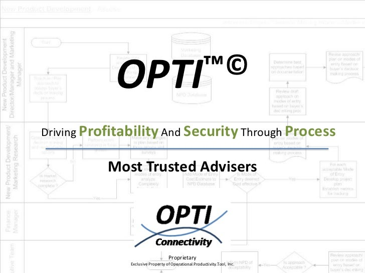 OPTI™©Driving Profitability And Security Through Process           Most Trusted Advisers                                  ...