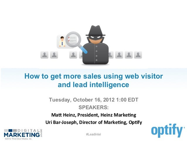How to get more sales using web visitor                            and lead intelligence                                ...