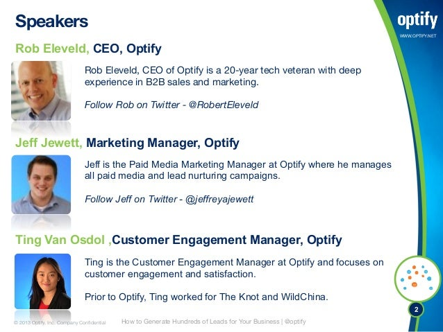 The Soft Ask: How to Generate Hundreds of Leads For Your Business Using Optify Slide 2