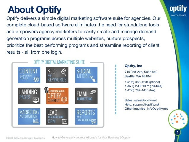 The Soft Ask: How to Generate Hundreds of Leads For Your Business Using Optify Slide 3