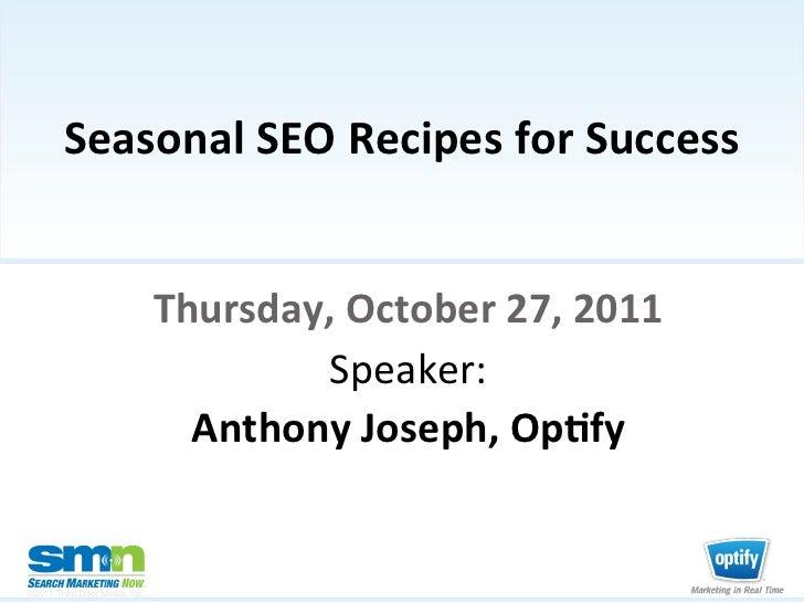 Seasonal SEO Recipes for Success                                                                                ...