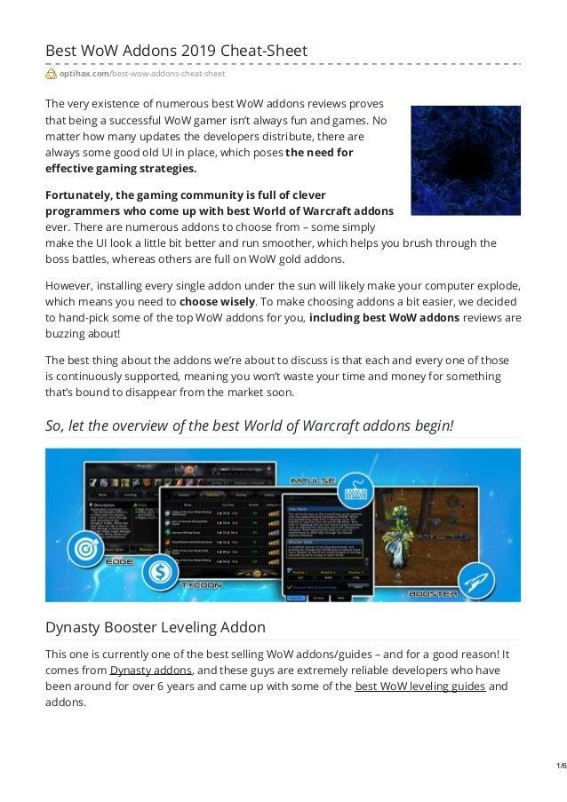 Best WoW Addons 2019 - Full Game Enhancement | OptiHax
