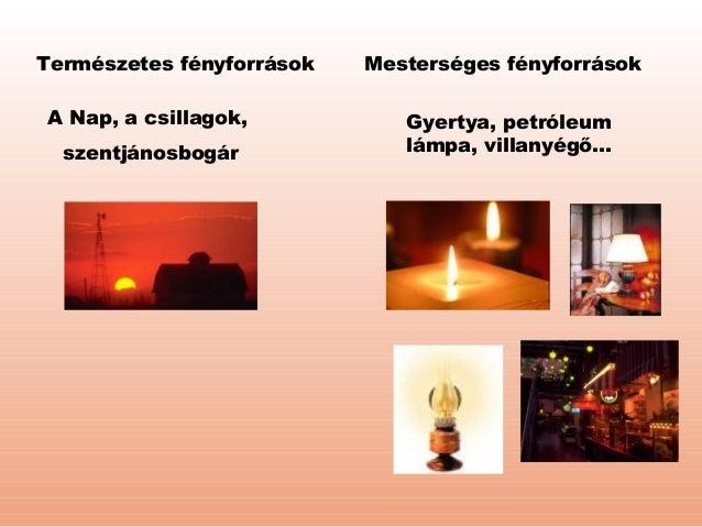 Természetes fényforrások