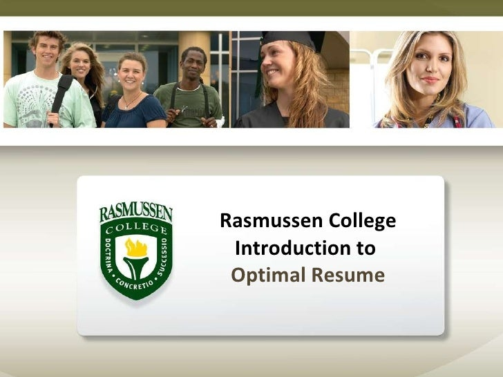 Rasmussen College Introduction to  Optimal Resume