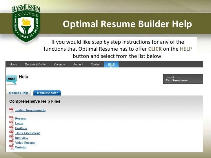 optimal resume presentation students