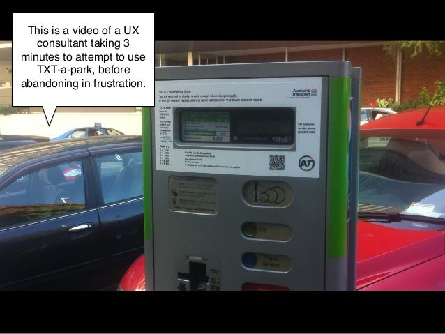 This is a video of a UX   consultant taking 3minutes to attempt to use   TXT-a-park, beforeabandoning in frustration.!    ...