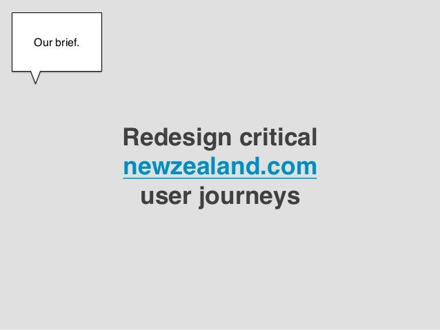 Our brief.!    !              Redesign critical