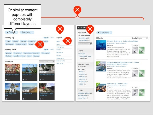 Or similar content  pop-ups with    completelydifferent layouts.!        !