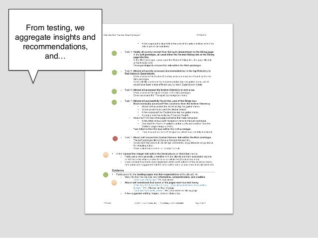 From testing, weaggregate insights and  recommendations,       and…!          !