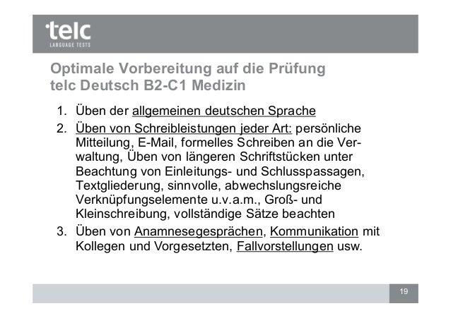 Optimale Vorbereitung Auf Die Prüfung Deutsch B2 C1 Medizin