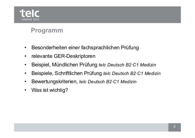optimale vorbereitung auf die prfung telc deutsch b2 c1 medizin 1 2 - B2 Prufung Beispiel