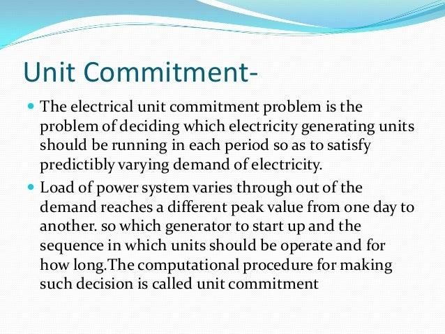 the unit commitment problem