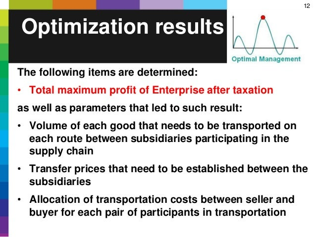 12 The following items are determined: • Total maximum profit of Enterprise after taxation as well as parameters that led ...