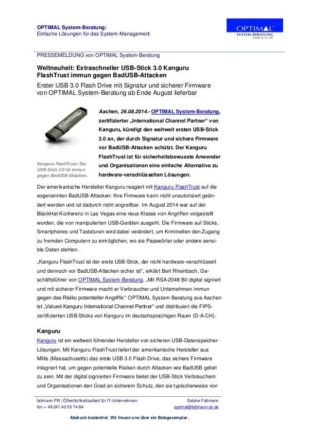 OPTIMAL System-Beratung: Einfache Lösungen für das System-Management PRESSEMELDUNG von OPTIMAL System-Beratung faltmann PR...