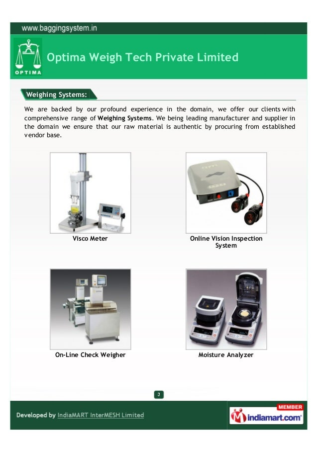 Optima Weigh Tech Private Limited, Vadodara, Laboratory Balance Slide 3