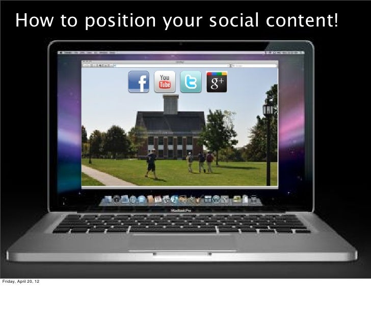 How to position your social content!Friday, April 20, 12