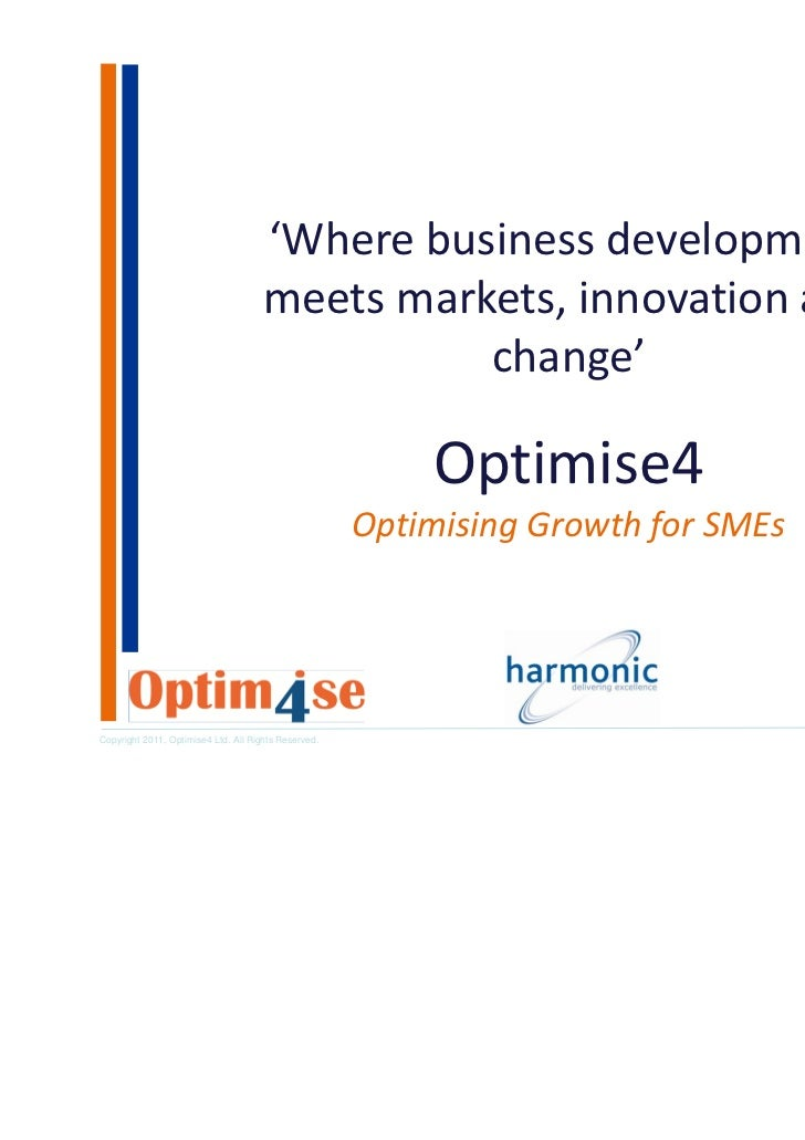 'Where business development                                      meets markets, innovation and                            ...