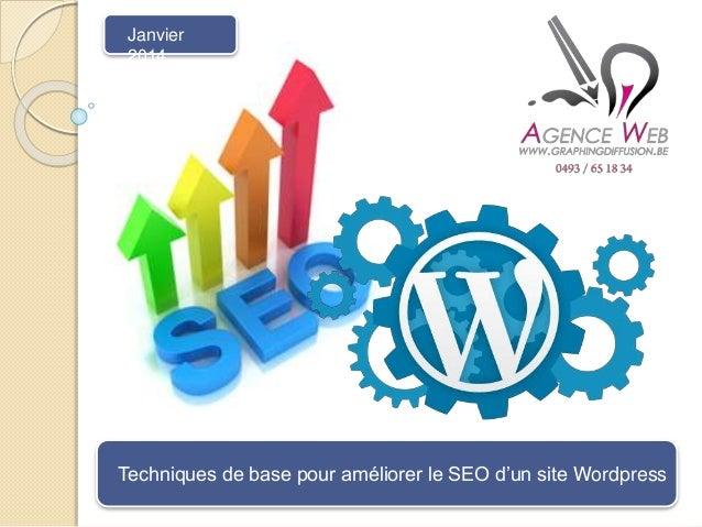 Techniques de base pour améliorer le SEO d'un site Wordpress Janvier 2014