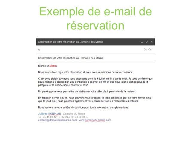 Optimiser ma relation client par l email for Bon plan reservation hotel