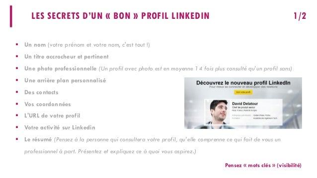 Optimiser votre profil LinkedIn Slide 3