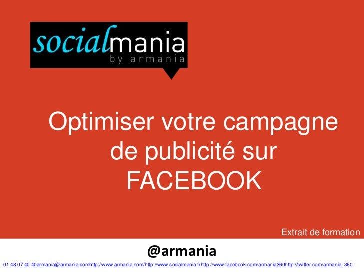 Optimiser votre campagne                       de publicité sur                        FACEBOOK                           ...