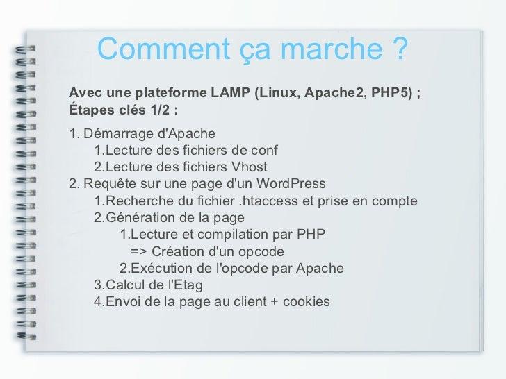 Comment ça marche ?Avec une plateforme LAMP (Linux, Apache2, PHP5) ;Étapes clés 1/2 :1. Démarrage dApache    1.Lecture des...