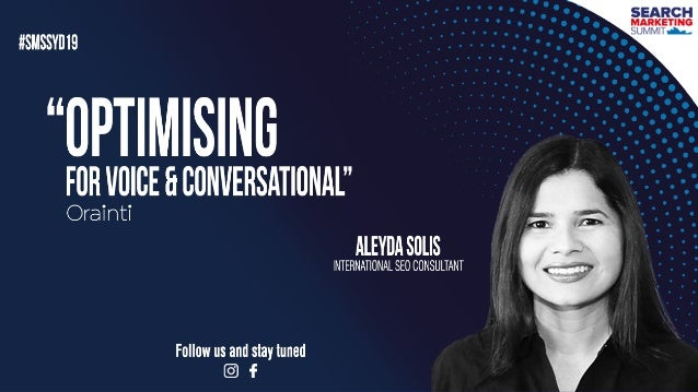 """#VOICESEARCH BY @ALEYDA FROM #ORAINTI AT #RIMC19#CONVERSATIONALSEARCH BY @ALEYDA FROM #ORAINTI AT #SMSSYD19 """"Ok Google, Ho..."""