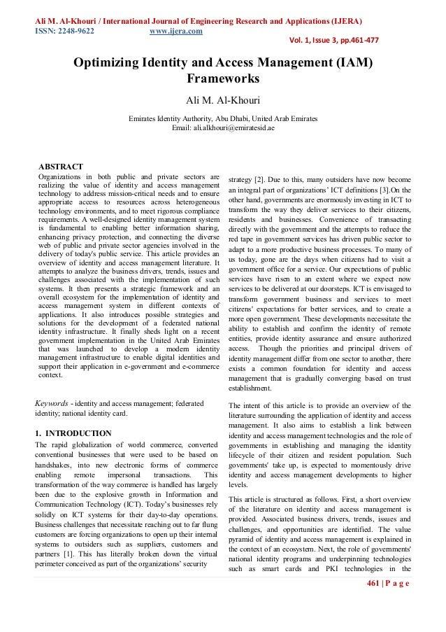 Ali M. Al-Khouri / International Journal of Engineering Research and Applications (IJERA)ISSN: 2248-9622                 w...