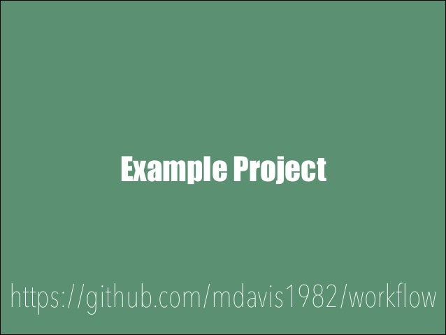 Example Project Simple Article Management  https://github.com/mdavis1982/workflow