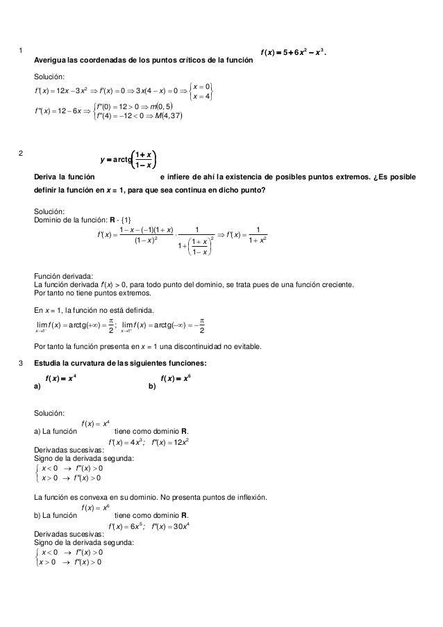 1Averigua las coordenadas de los puntos críticos de la función.65)( 32xxxf Solución:  ...