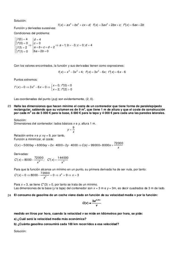 """Solución:Función y derivadas sucesivas:baxxc; f""""bxaxxd; fcxbxaxxf 26)(23)()( 223Condiciones del problema:40310262..."""