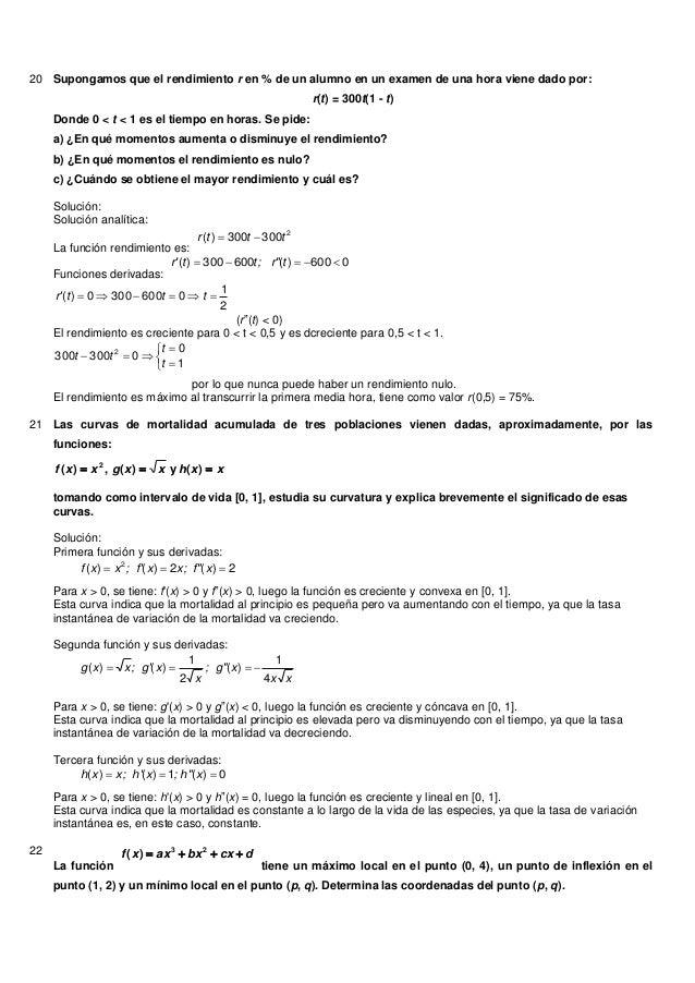 20 Supongamos que el rendimiento r en % de un alumno en un examen de una hora viene dado por:r(t) = 300t(1 - t)Donde 0 < t...