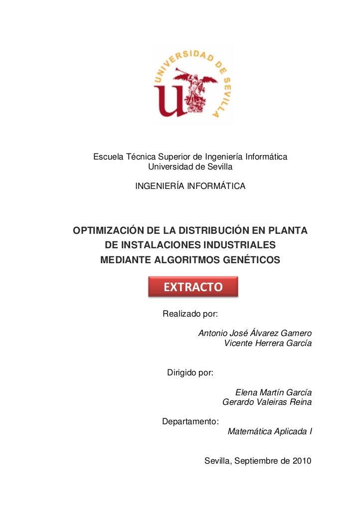 Escuela Técnica Superior de Ingeniería Informática                Universidad de Sevilla             INGENIERÍA INFORMÁTIC...