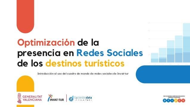 Optimización de la presencia en Redes Sociales de los destinos turísticos Introducción al uso del cuadro de mando de redes...