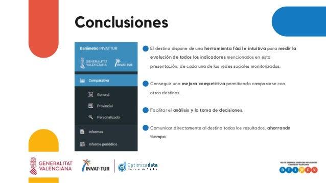 Conclusiones El destino dispone de una herramienta fácil e intuitiva para medir la evolución de todos los indicadores menc...