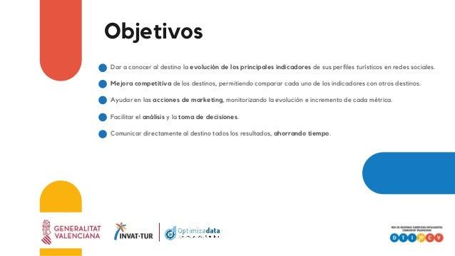 Objetivos Dar a conocer al destino la evolución de los principales indicadores de sus perfiles turísticos en redes sociale...