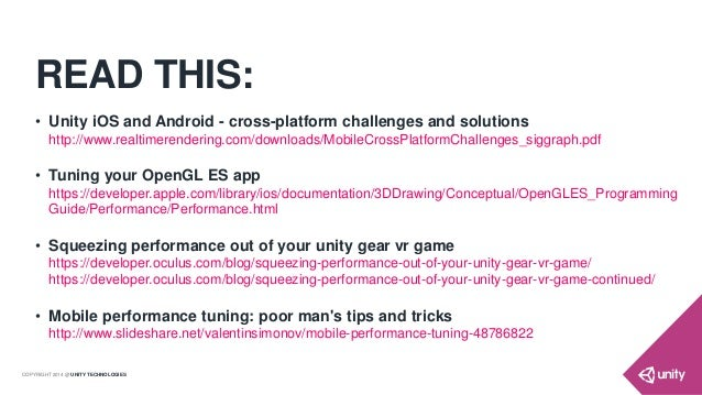 Practical Guide for Optimizing Unity on Mobiles