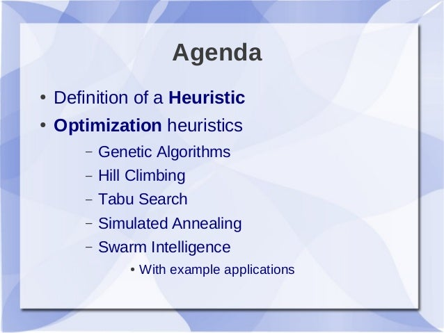 Heuristic search definition