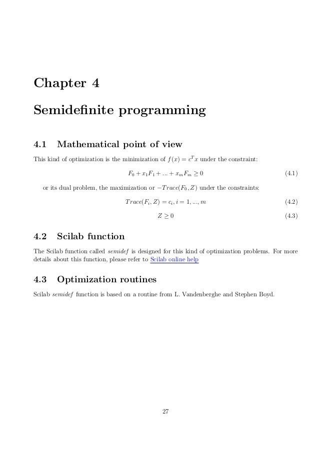 scilab optimization For continuous function optimization (an algorithm by kenneth price and rainer   matlab ® code scilab code psather code c++ code fortran90 code.