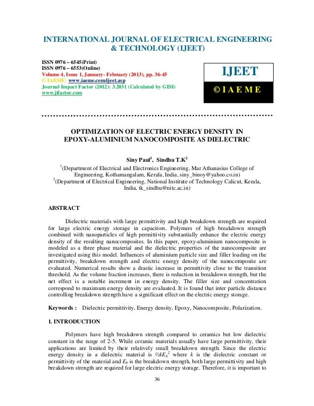 INTERNATIONAL Electrical EngineeringELECTRICAL ENGINEERING International Journal of JOURNAL OF and Technology (IJEET), ISS...