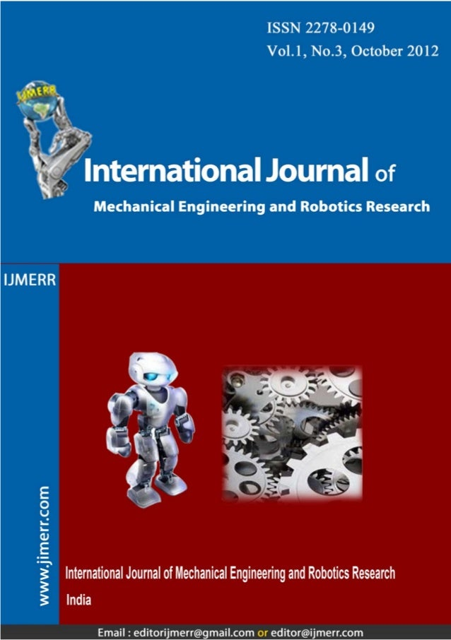 203 This article can be downloaded from http://www.ijmerr.com/currentissue.php Int. J. Mech. Eng. & Rob. Res. 2012 Ajit Ho...
