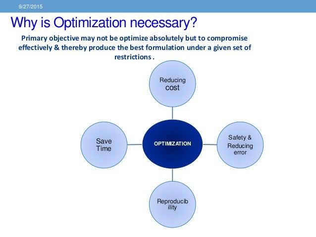 Optimization Techniques In Pharmaceutical Formulation