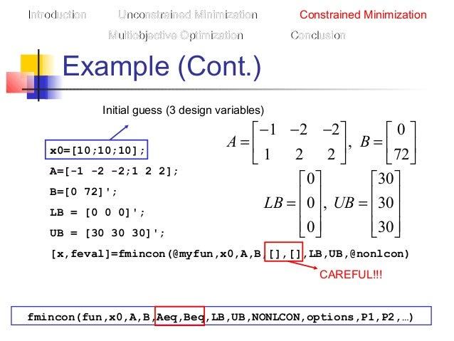 Optimization toolbox presentation