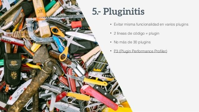 • Plugins desinstalados • Número de versiones de Posts • Comentarios SPAM • Papelera • Opciones/transients 9.- Optimiz...