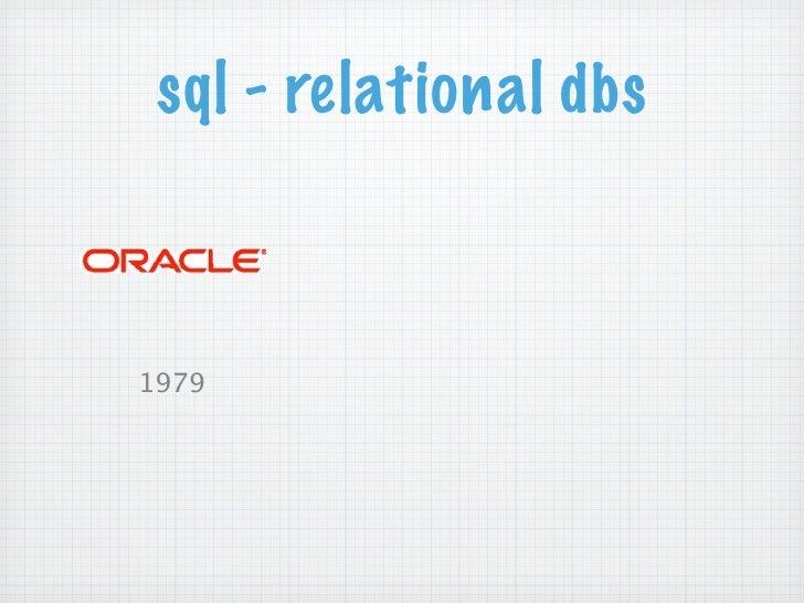 sql - relational dbs1979